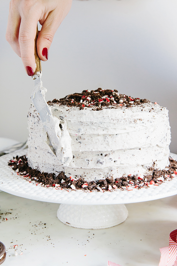 Chocolate Peppermint Buttercream Cookie Cake and all groceries delivered to the front door by @Shiptgroceries Via Waiting on Martha #ad #recipe