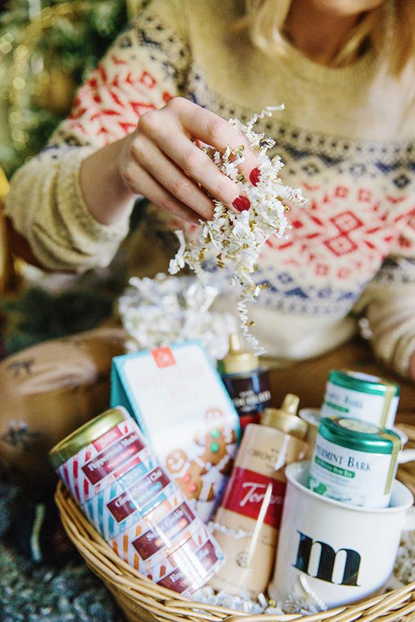 Gifting holiday gift baskets via Waiting on Martha