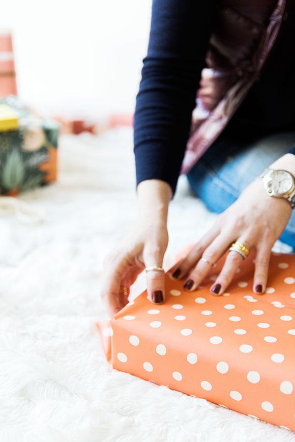 How to wrap a present via Waiting on Martha