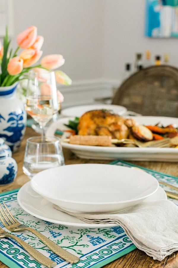 Setting a simple dinner table via Waiting on Martha