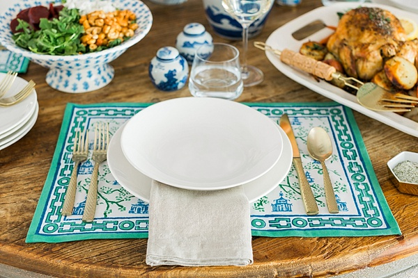 Casual dining tabletop inspiration via Waiting on Martha