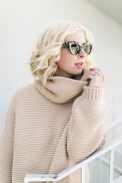 Tan slouchy Zara sweater