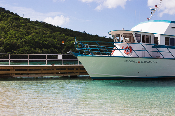 Caneel Bay Resort ferry via Waiting on Martha