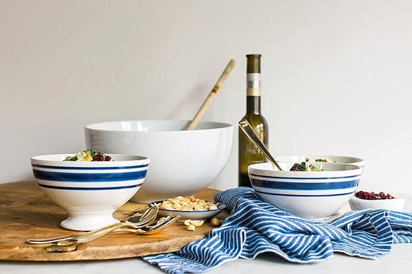 Vegan Broccoli Salad with Cauliflower, Red Onions, Peanuts & Cranberries - Waiting On Martha