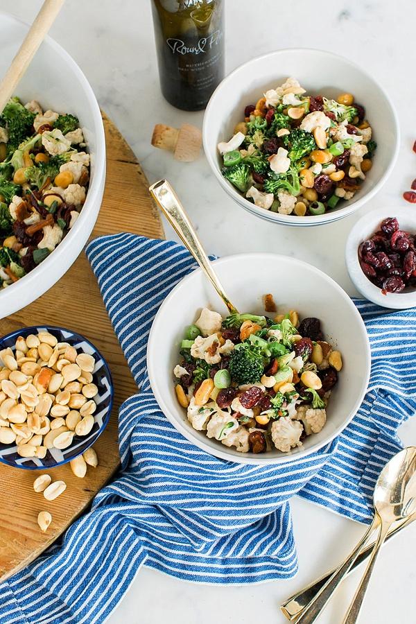 Easy broccoli salad recipe via Waiting on Martha