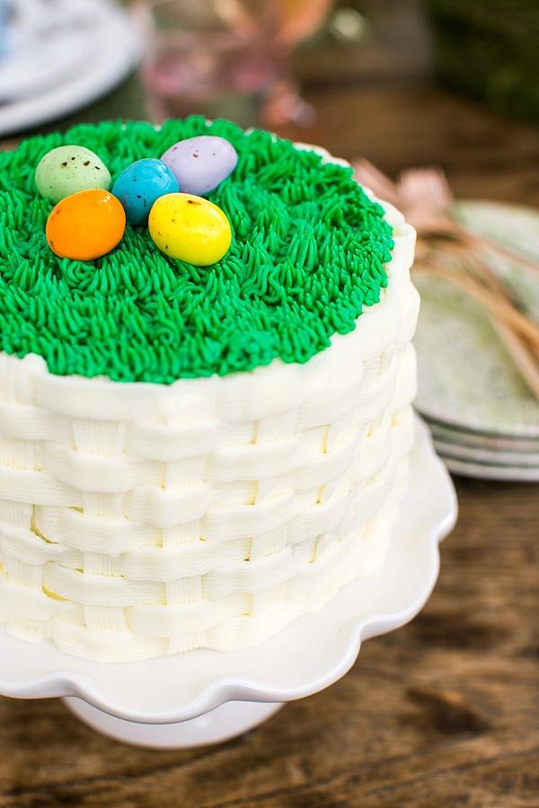 Easter egg cake via Waiting on Martha
