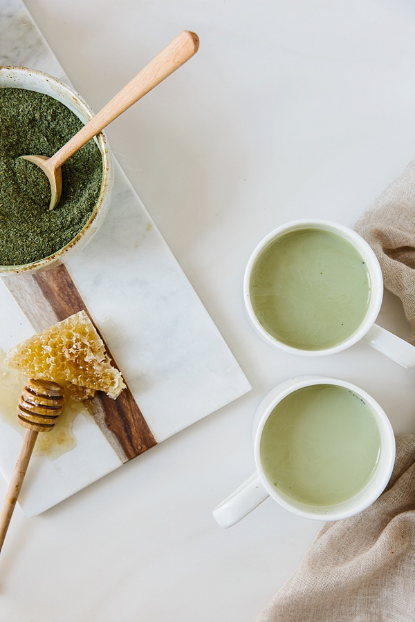 Matcha tea latte recipe | waitingonmartha.com