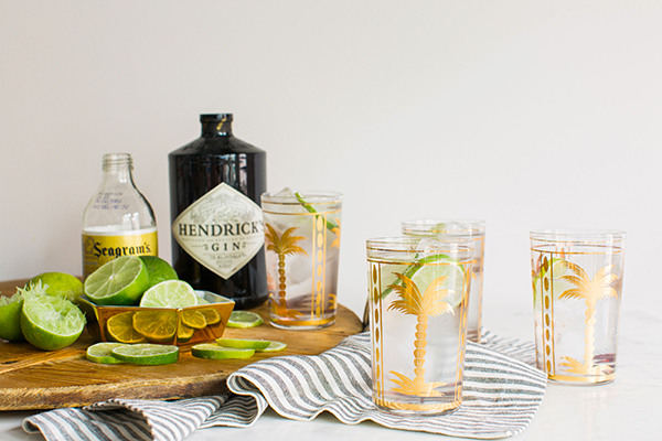 Gin and Tonic cocktail recipe via Waiting on Martha