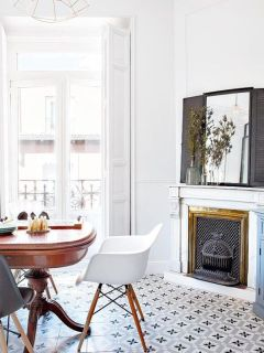 Gorgeous rooms with tile via Waiting on Martha
