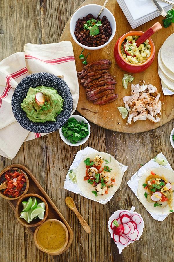 DIY taco bar for Cinco de Mayo \ Waiting on Martha