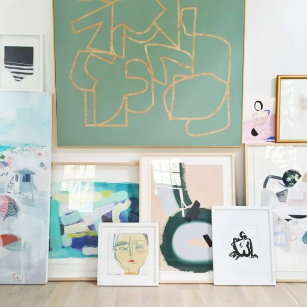 Propped art against the wall | waitingonmartha.com