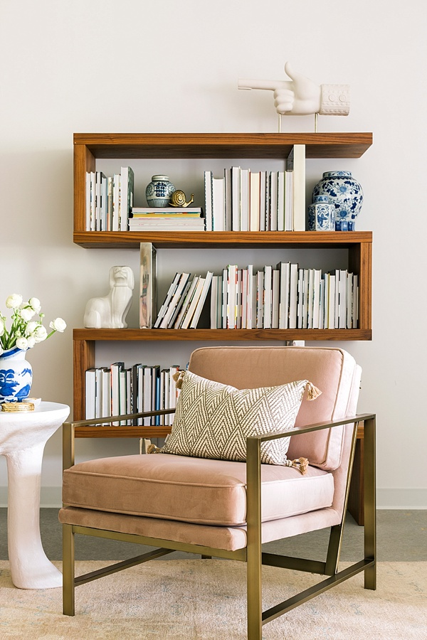 Bookshelf styling idea via Waiting on Martha