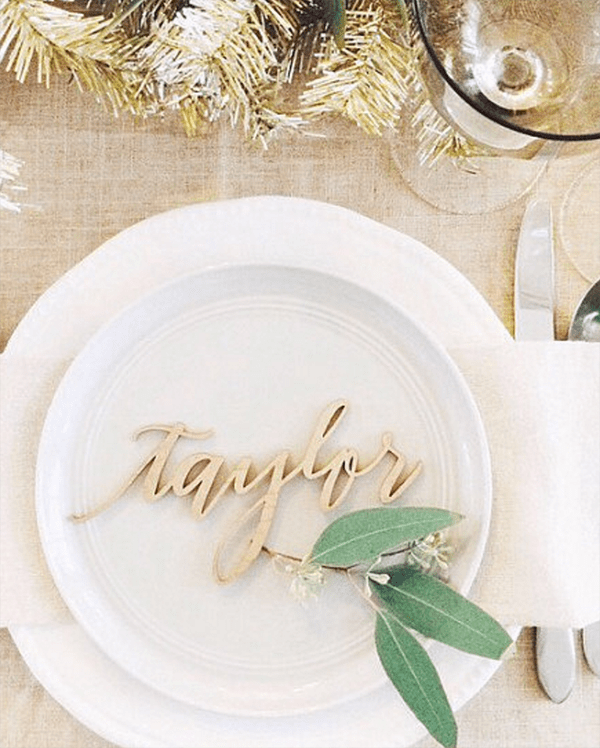 Wood Laser Cut Name Tags ($14.50+)