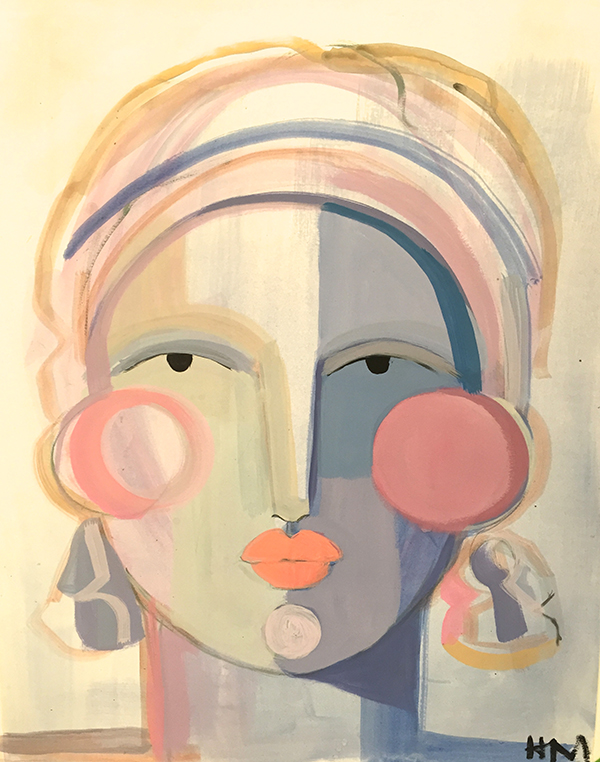 Hayley Mitchell abstract faces