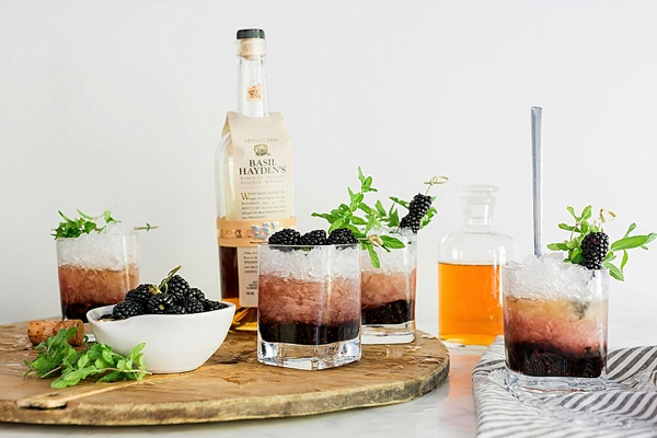 Blackberry Bourbon Smash recipe, @waitingonmartha