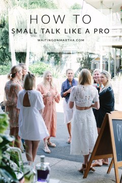 How to small talk like a pro, Waiting on Martha