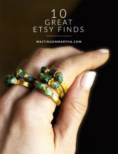 10 Great Etsy Finds, Waiting on Martha