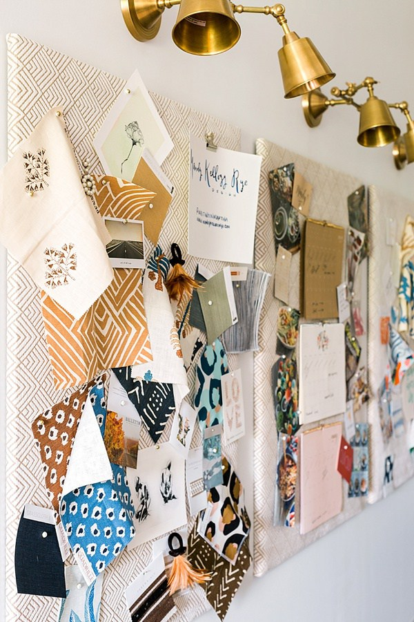 DIY fabric-covered boards