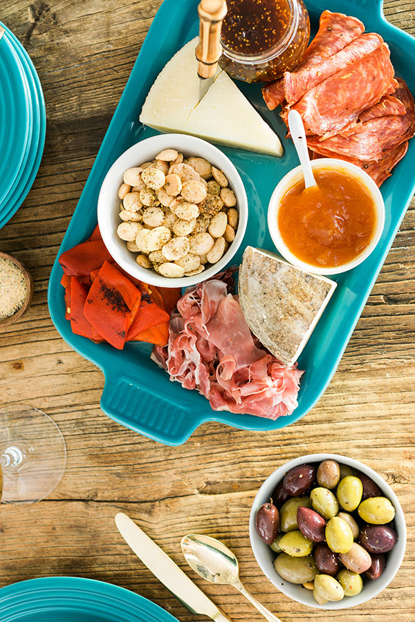 A Spanish themed cheese plate with Le Creuset, @waitingonmartha #ad