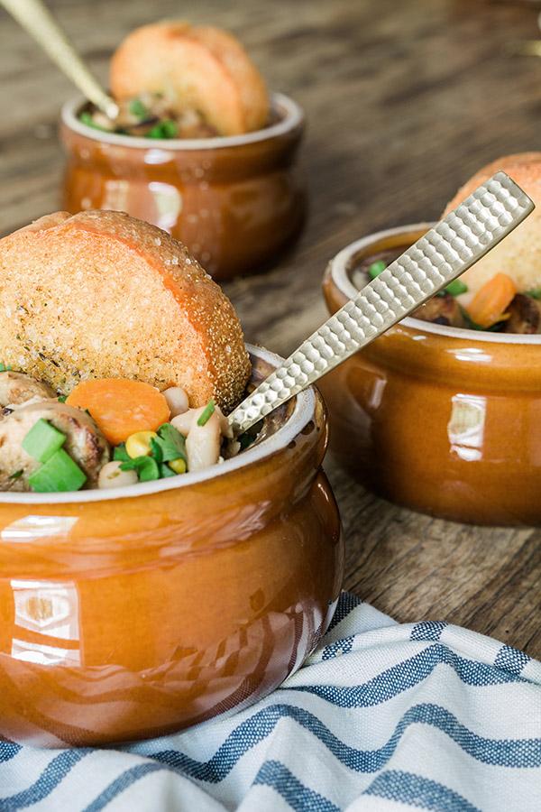 Vegetarian Sausage Bean Stew recipe by @waitingonmartha