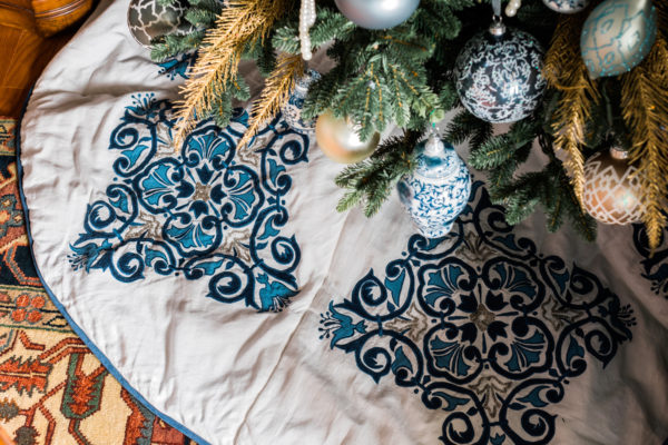Blue and white Christmas decorations, Waiting On Martha
