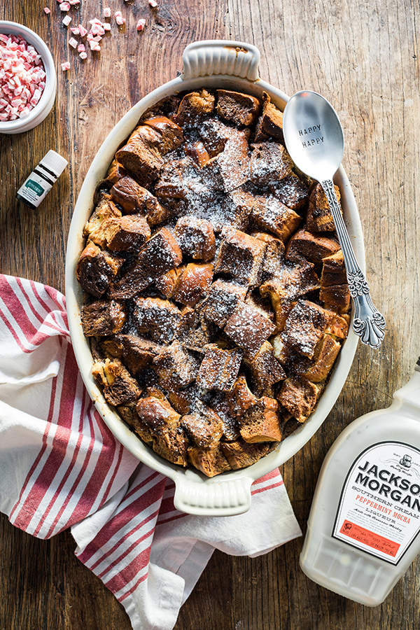 Chocolate peppermint bread pudding recipe by @waitingonmartha