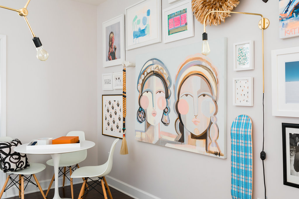 Gallery wall art ideas via @waitingonmartha
