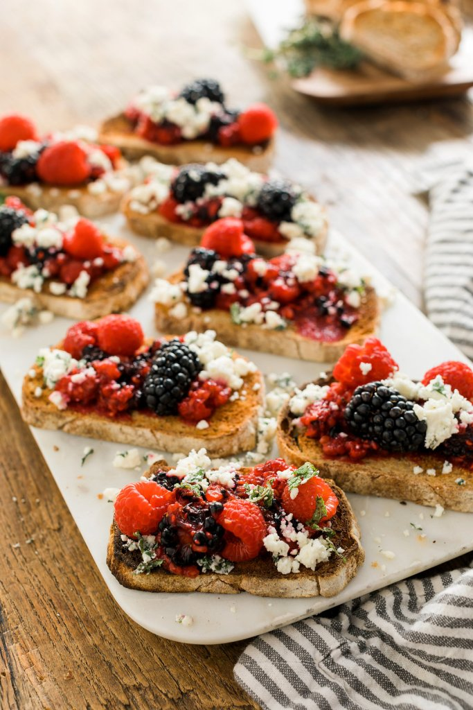 Berry Goat Cheese Crostini recipe on Waiting on Martha