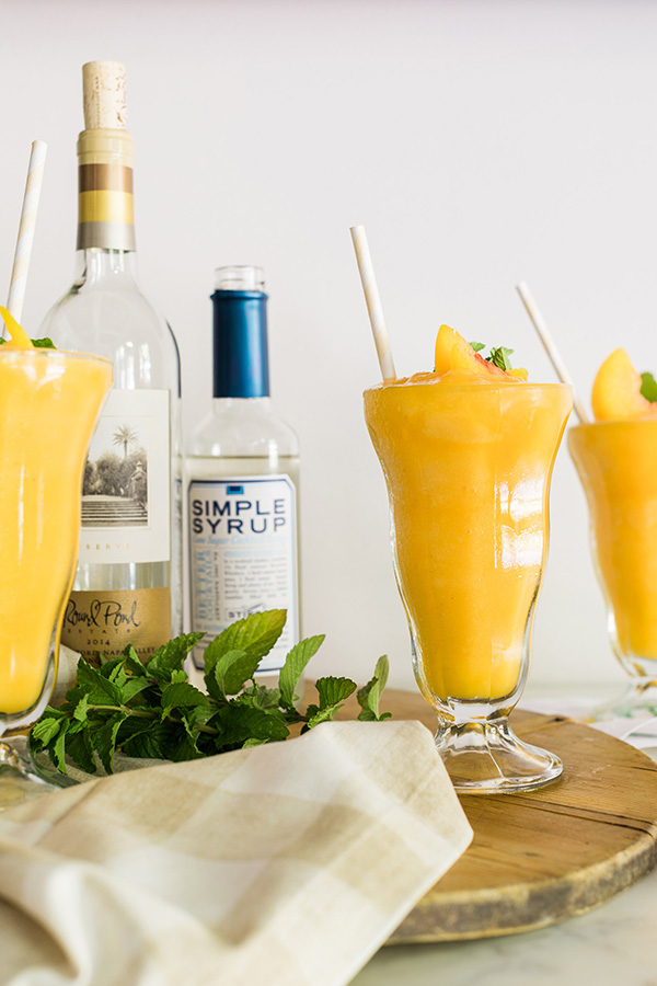 Peach white wine slushies recipe on Waiting on Martha