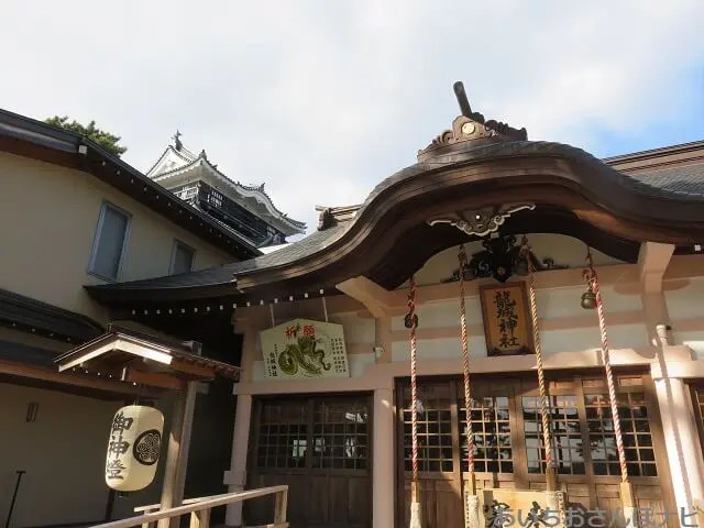 愛知県岡崎市の龍城神社と岡崎城