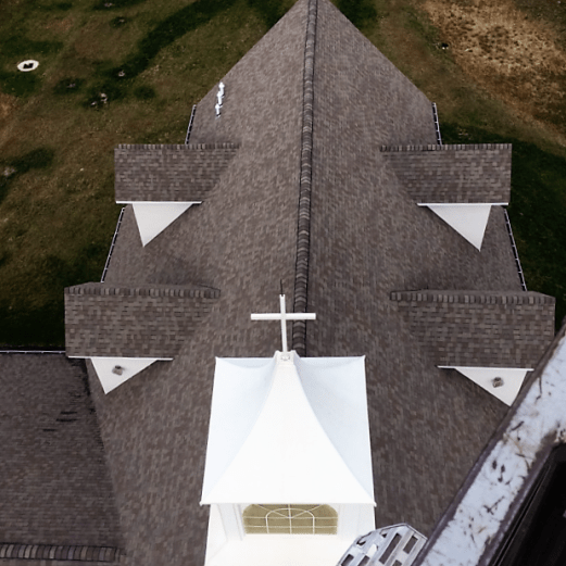 View of Christ Community Church from above.