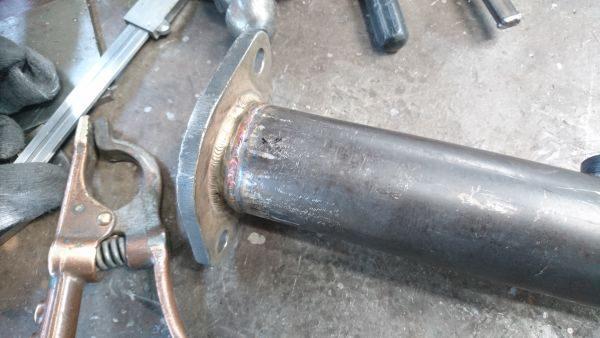 アルファロメオマフラー溶接修理