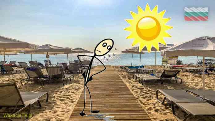 Plaża w Bułgarii - słońce świeci i niektórym leci pot z czoła