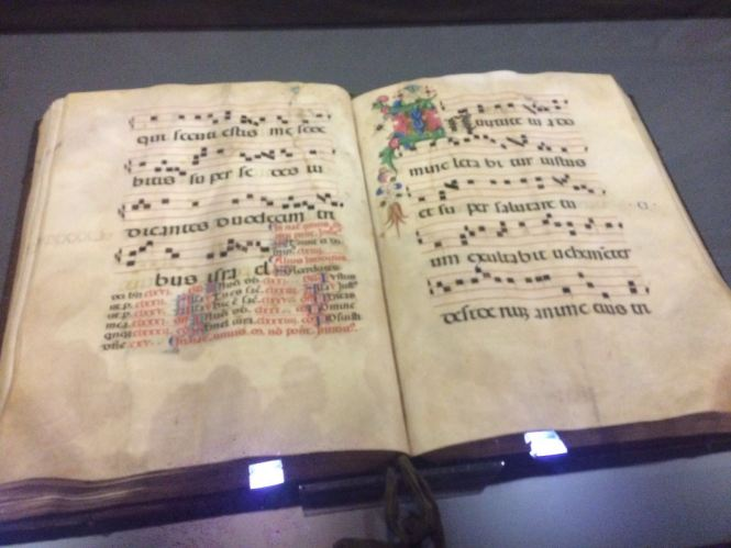 Ancient bible used in conducting mass at the Basilica.