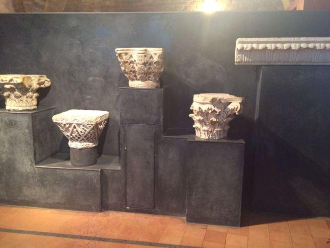 Ancient stones- original pillars of the Basilica