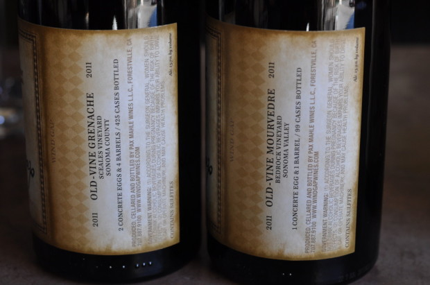 Old vine bottlings--Grenache and Mourvedre