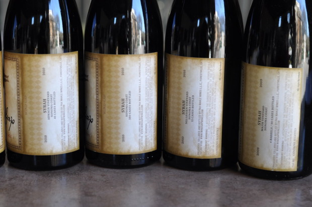 The Sonoma Coast Syrah, and its component parts