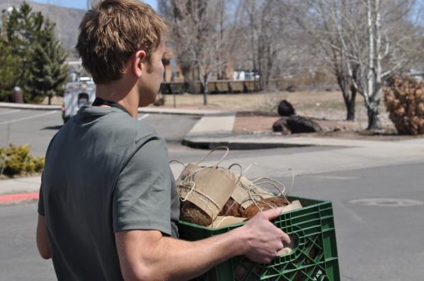 Caleb Delivering Bread to the CSA