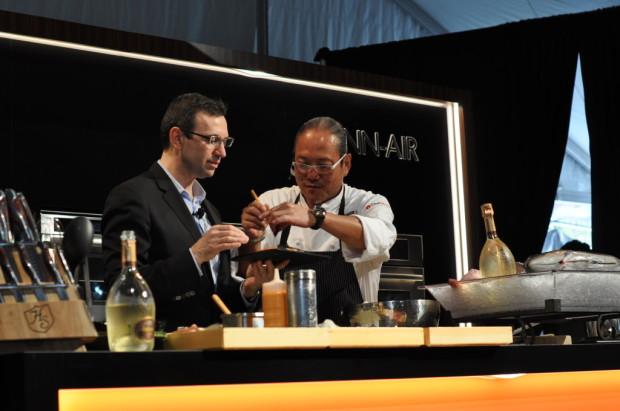 Morimoto puts the final touches on Panaiotis's sushi