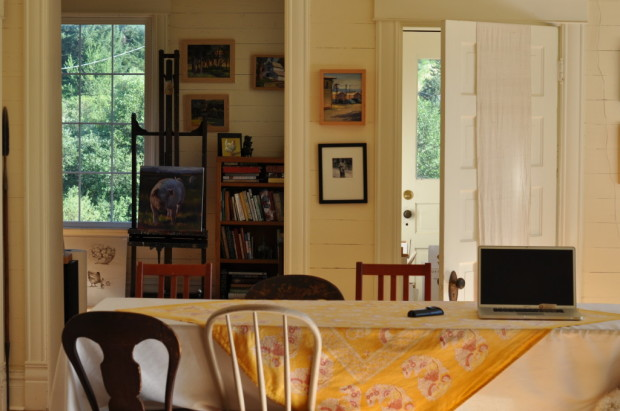 Looking Across the Living Room into Clare's Studio