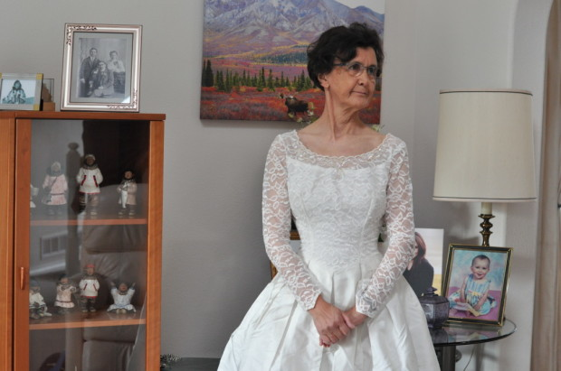Mom still fits her wedding dress
