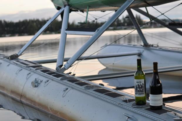 wine on floats