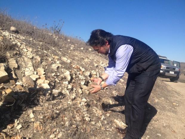 Sashi Moorman and marine shale, Sta Rita Hills