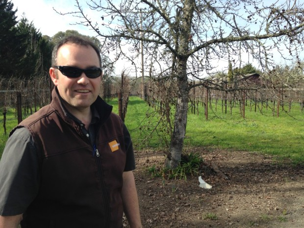 Andy Smith in Wild Rose Vineyard