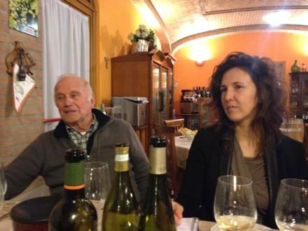 sitting with Franco Tiraboschi