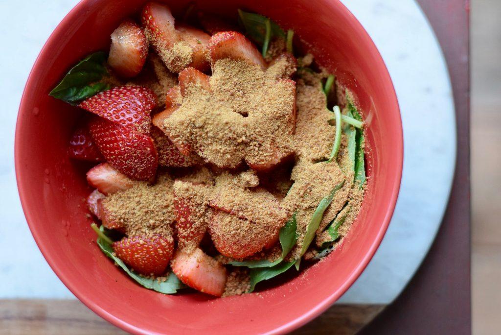 Strawberry Cannasoda Muddle cannabis basil