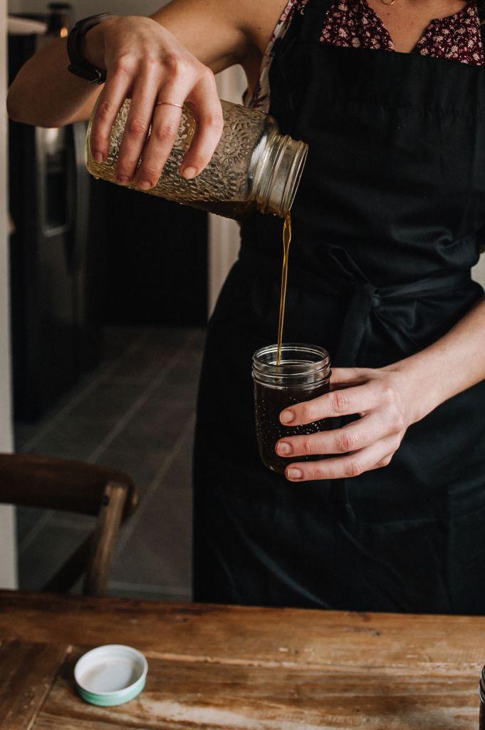 pouring cbd oil recipe