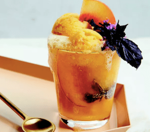 Chef Coreen Carroll's Peach + Ginger Ale Float With, Of Course, THC.