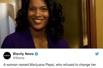 Dr Marijuana Pepsi Refuses To Change Her Name