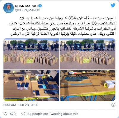 Police Seize Nearly 6 Tons of Cannabis, Weapons in Southern Morocco